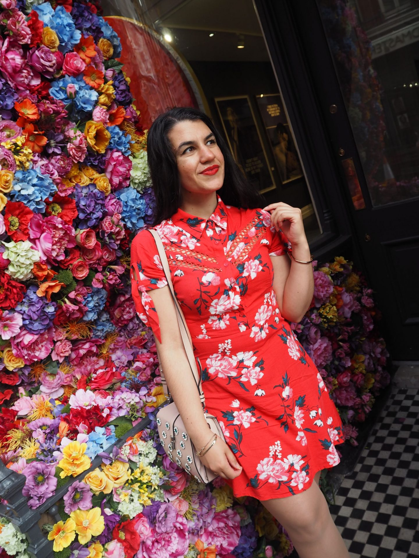 An Ode To The Red Floral Dress